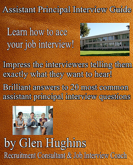 An eBook cover, actual version, 2019, Assistant Principal interview Guide
